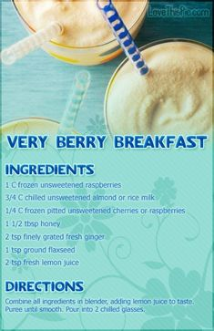 Very Berry Breakfast Recipe Pictures, Photos, and Images for Facebook, Tumblr, Pinterest, and Twitter #weightlossbeforeandafter