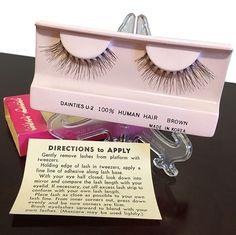 Vintage False Eyelashes by Luciel - From the estate of actress Sylvia Miles Midnight Cowboy, Makeup History, Ceramic Owl, 100 Human Hair, False Eyelashes, American Actress, Adhesive, Give It To Me, My Etsy Shop
