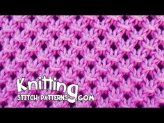 Knotted Openwork Stitch Pattern | Knitting Stitch Patterns