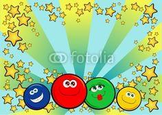 Vettoriale: Smiles background