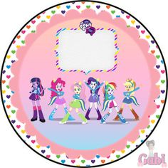 Kit Equestria Girls ( My Little Pony ) 9th Birthday Parties, Girl Birthday, Happy Birthday, Equestria Girls, Festa Do My Little Pony, My Little Pony Invitations, Little Poni, Bottle Cap Images, Twilight Sparkle