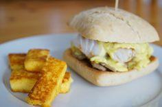 The Cook Time: Burger indien au cabillaud et frites de polenta