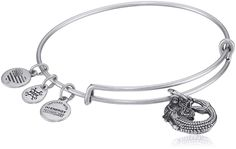 Alex and Ani Mermaid II Rafaelian Silver Bangle Bracelet. The Mermaid is a combination of elemental and angelic energies. A mysterious aura surrounds her very essence.