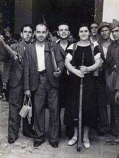 Milicianos. 1936