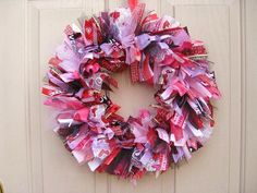 Valentine's ribbon wreath! Need to find a tutorial for making ribbon wreaths!