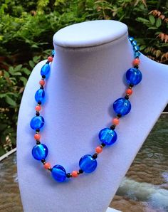 A Place For Handmade Beaded Jewelry and More! Translucent Glass, Handmade Beaded Jewelry, Glass Beads, Beaded Necklace, Peach, Community, Artists, Google, Blue