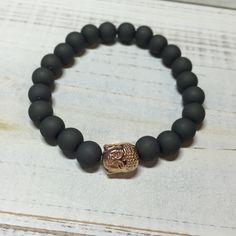 buddha+Rosegold+Armband+mit+matt+Perlen+von+MadebyCathyBo+auf+DaWanda.com