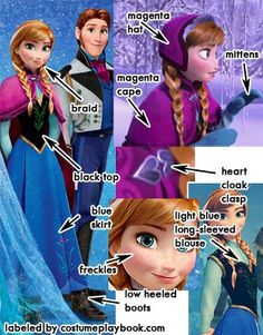 Dress up as Anna from Frozen! My fave animation of the moment
