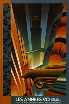 Poster designed by Danielle Sauvage and Alain Levesque for the Montreal Museum of Fine Arts exhibit of Art Deco 1990