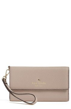 kate spade new york 'spencer court' leather phone wristlet available at #Nordstrom