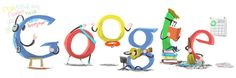 Google Doodle: New Year's Day 2012