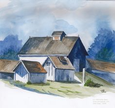 How to Do the Wash Painting Technique {Painting Tips} Painting washes does more than create a large area of color in a timely manner. Watercolor Barns, Watercolor Tips, Watercolour Tutorials, Watercolor Techniques, Painting Techniques, Watercolor Paintings, Watercolours, Barn Paintings, Watercolor Projects