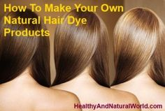 Find out a number of tricks to dye your hair using natural products without using harmful chemicals.