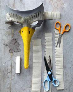 Bird mask instructions from Martha Stewart