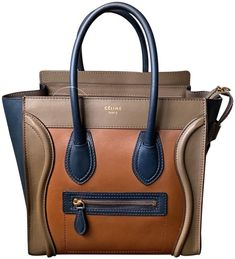 1c4fb5d1fe5b4e Céline Luggage Use Coupon Igbag100 Micro Multicolor Camel Navy Calfskin  Leather Tote - Tradesy Celine Luggage
