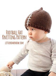 Futbol bebé sombrero que hace PUNTO PATRÓN  patrón de gorro