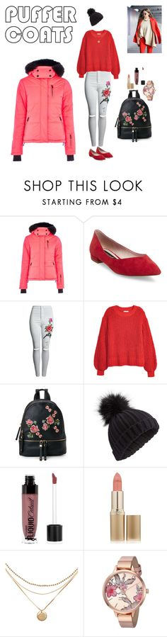 """""""Puffer Coats"""" by dinapetridi ❤ liked on Polyvore featuring Topshop, Steve Madden, H&M, Urban Expressions, Miss Selfridge, Wet n Wild, L'Oréal Paris and Nine West"""