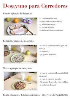 3 Ejemplos de Desayunos para Corredores o Runners cargados de los nutrientes esenciales para el deportista http://evidasana.com/blog/ejemplos-desayunos-corredores/