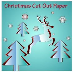 christmas template design with cut out paper style