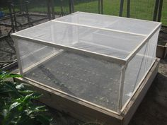 "If you have a raised bed garden, here's an ""add-on"" you can build to keep most pests from munching on your plants. You're basically building a ""lid"" that fits on top and inside your existing raised bed. Raised Garden, Organic Gardening, Diy Garden, Garden Structures, Greenhouse Gardening, Garden Pests, Lawn And Garden, Raised Vegetable Gardens, Outdoor Gardens"