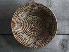 Vintage Native American Hand Woven Coil Basket by 5gardenias