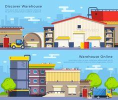Warehouse Flat Banners