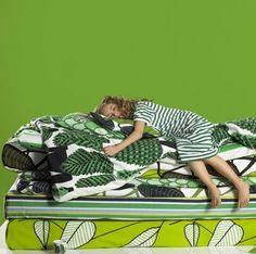 The Marimekko bed of your greenest dreams.