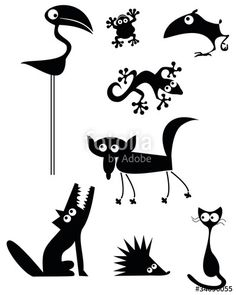 "Download the royalty-free vector ""Animal Silhouettes"" designed by abeadev at the lowest price on Fotolia.com. Browse our cheap image bank online to find the perfect stock vector for your marketing projects!"