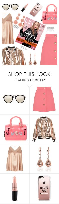 """Loading 2017"" by felicitysparks ❤ liked on Polyvore featuring Karen Walker, Miu Miu, Furla, Sans Souci, River Island, MAC Cosmetics, Casetify and Rebecca de Ravenel"