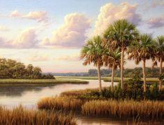 """""""Florida Coastline"""" an original by Henry Von Genk."""