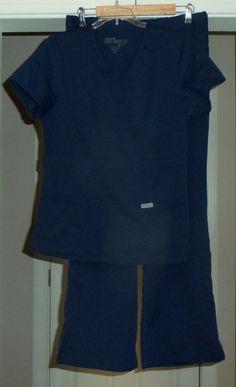 4d660dc3ca3 Womens GREY'S ANATOMY 4232 Navy Blue Uniforms Scrubs Top Bottom Sets Size M  #fashion #
