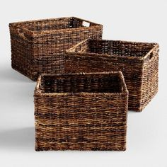 Handcrafted using traditional techniques, our Rectangular Madras Baskets are crafted of madras, a durable abaca fiber from the Philippines. Baskets For Shelves, Storage Baskets, Pantry Baskets, Room Shelves, Storage Containers, Pantry Storage, Pantry Organization, Kitchen Storage, Storage Spaces