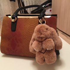 006f0a9036b6 Genuine Rabbit Fur Pom Pom Key Chain For Women Trinket Cute Rabbit Toy Doll  Bag Car Key Ring Monster Keychain Jewelry Gift   Find similar products by  ...
