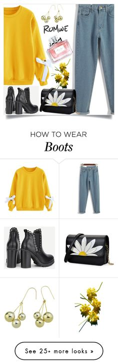 """""""Romwe"""" by amrafashion on Polyvore featuring Christian Dior"""