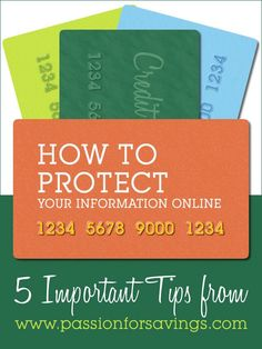 How to Protect Your Information Online! 5 Tips You Don't Want to Miss Budget, Budgeting Tips, #budget