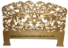 Luxury  French Baroque Reproduction Style Hand Carved  Mahogany Rococo Louis XVI Headboard.