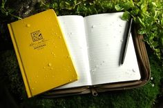 Waterproof notebook clever idea, brilliant, how cool creative