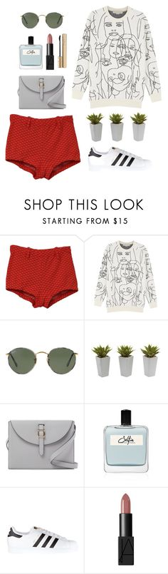 """oh oh"" by vasiliki07 on Polyvore featuring Care Label, STELLA McCARTNEY, Ray-Ban, Nearly Natural, Meli Melo, Olfactive Studio, adidas Originals, NARS Cosmetics and Dolce&Gabbana"