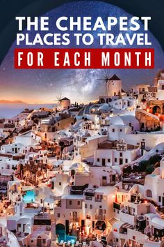 Check out this month-by-month guide for great vacation deals. Budget breakdowns for the cheapest spots in the world. Start planning your vacation right now! |Cheap places to travel| the cheapest places to travel for each month of the year| Budget travel guide #budgettraveltips #budgettravelguide #cheapdestinations #budgetgetaways #budgetdestinations #monthbymonthguide #beautifulbudgetdestinations