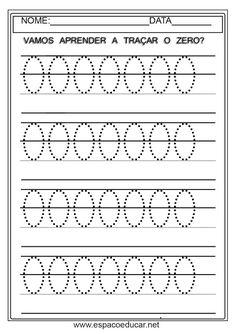ATIVIDADES PARA EDUCAÇÃO INFANTIL SOBRE NUMERAIS - COORDENAÇÃO MOTORA - ESPAÇO EDUCAR Preschool Painting, Preschool Books, Preschool Math, Shapes Worksheets, Kids Math Worksheets, Math Activities, Number Writing Practice, Writing Numbers, Number Tracing