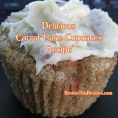 Carrot Cake Cupcakes Recipe Reviewed Carrot Cake Cupcakes, Baking Cupcakes, Cupcake Recipes, Large Cupcake Pan, Cupcake Pans, Yummy Treats, Yummy Food, Filled Cupcakes, Cranberry Recipes