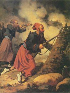 Żuawi w walce (Zuavo en Combate) - Aleksander Raczyński