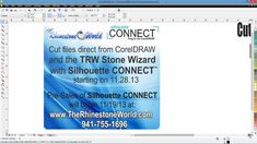 How to Cut Straight To The Silhouette Cameo using the TRW Stone Wizard or CorelDraw!