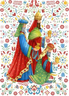 Leading Illustration & Publishing Agency based in London, New York & Marbella. Christmas Card Images, Christmas Scenes, Christmas Nativity, Vintage Christmas Cards, Christmas Pictures, Christmas Art, We Three Kings, Christian Images, Religious Pictures