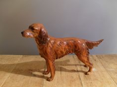 Handsome Irish Setter Hunting Dog Figurine Handsome Goebel/Hummel Figurine Irish Setter Hunting Dog CH 622. 1968 9 3/4 nose to tail. 6 3/8 tall. No