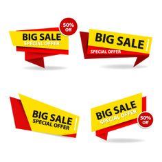 Flyer Poster, Set Fashion, Poster Background Design, Ribbon Banner, Sale Flyer, Badge, Promotion, Sale Banner, Messages