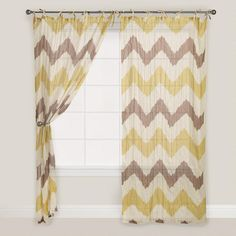 Add a contemporary touch to your décor with our Chevron Crinkle Voile Curtain. Chevron Curtains, Voile Curtains, Grey Curtains, Curtain World, Dorm Room Designs, Bedroom Designs, Bedroom Ideas, Bd Art, Hallway Colours