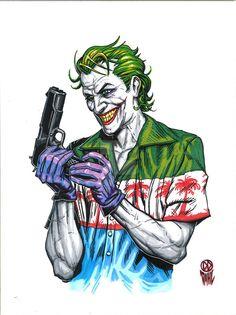 Joker Lock and Load by DanielDahl Art Du Joker, Le Joker Batman, Harley Quinn Et Le Joker, Der Joker, Gotham Batman, Photos Joker, Joker Images, Fotos Do Joker, Joker Wallpapers