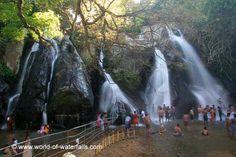 The Kutralam Five Falls Tirunelveli District, Tamil Nadu, India