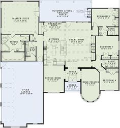 metal building home floor plans | Home Plan : # 153-1359 First Story. Make dining room a bedroom.